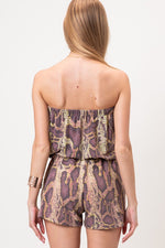 Snake Skin Romper - For Sure Fashion Boutique