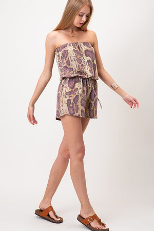 Load image into Gallery viewer, Snake Skin Romper - For Sure Fashion Boutique