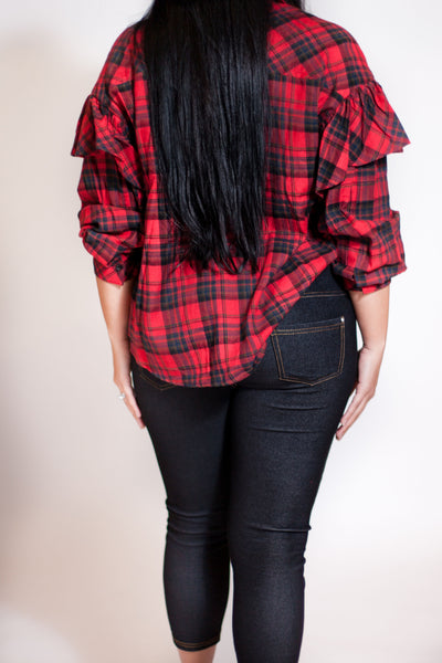 Sparkle & Trimmed Flannel
