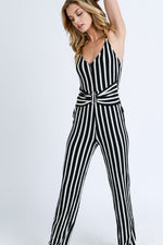 Stripe Jumpsuit - For Sure Fashion Boutique