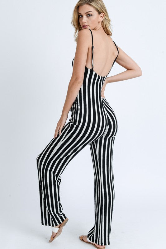 Load image into Gallery viewer, Stripe Jumpsuit - For Sure Fashion Boutique