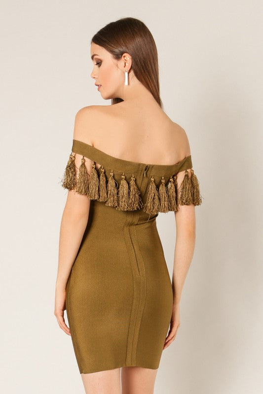 Tassel Bandage Dress - For Sure Fashion Boutique