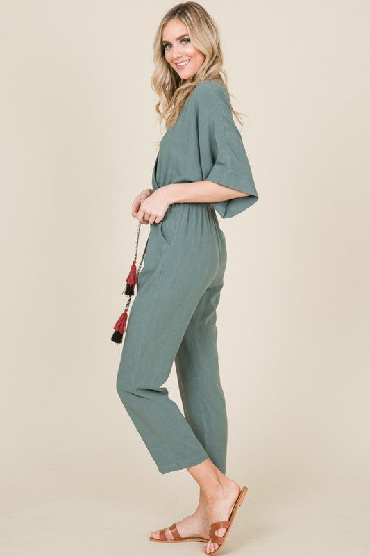 Load image into Gallery viewer, Tassel Jumpsuit - For Sure Fashion Boutique