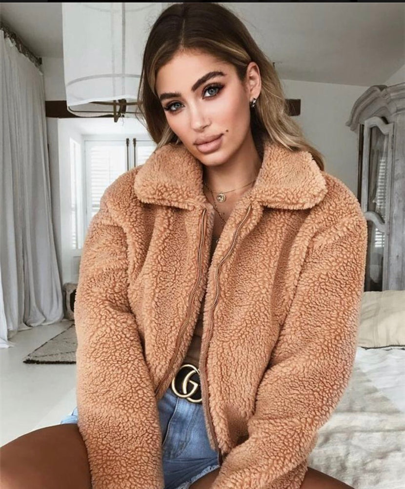 Bomber Bear Coat - For Sure Fashion Boutique