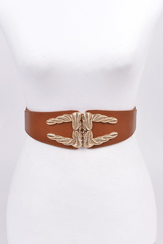 Bold Twist Belt - For Sure Fashion Boutique
