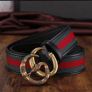 Load image into Gallery viewer, GG Trendy Belt (Tan & Red)