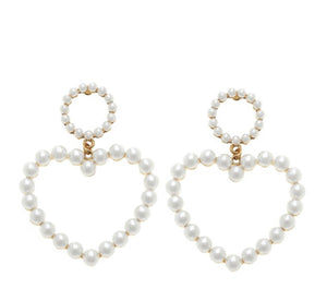 Heart Of Pearls Earrings - For Sure Fashion Boutique