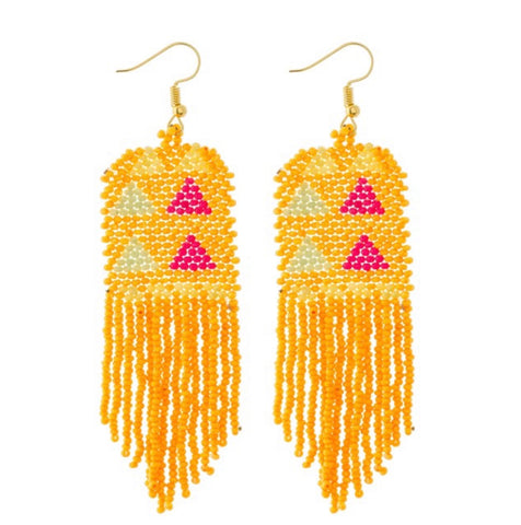 Beaded Tribal Earrings - For Sure Fashion Boutique