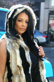 Pocket-Hooded FUR Vest
