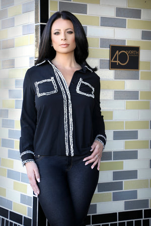 Knit Lined Blouse - For Sure Fashion Boutique