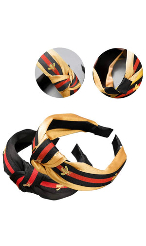 Bee Twist Headband - For Sure Fashion Boutique