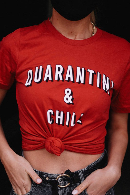 Load image into Gallery viewer, Quarantini & Chill Tee - For Sure Fashion Boutique