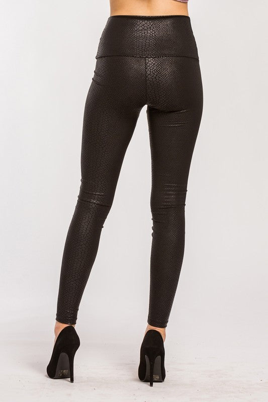Snake Skin Legging - For Sure Fashion Boutique