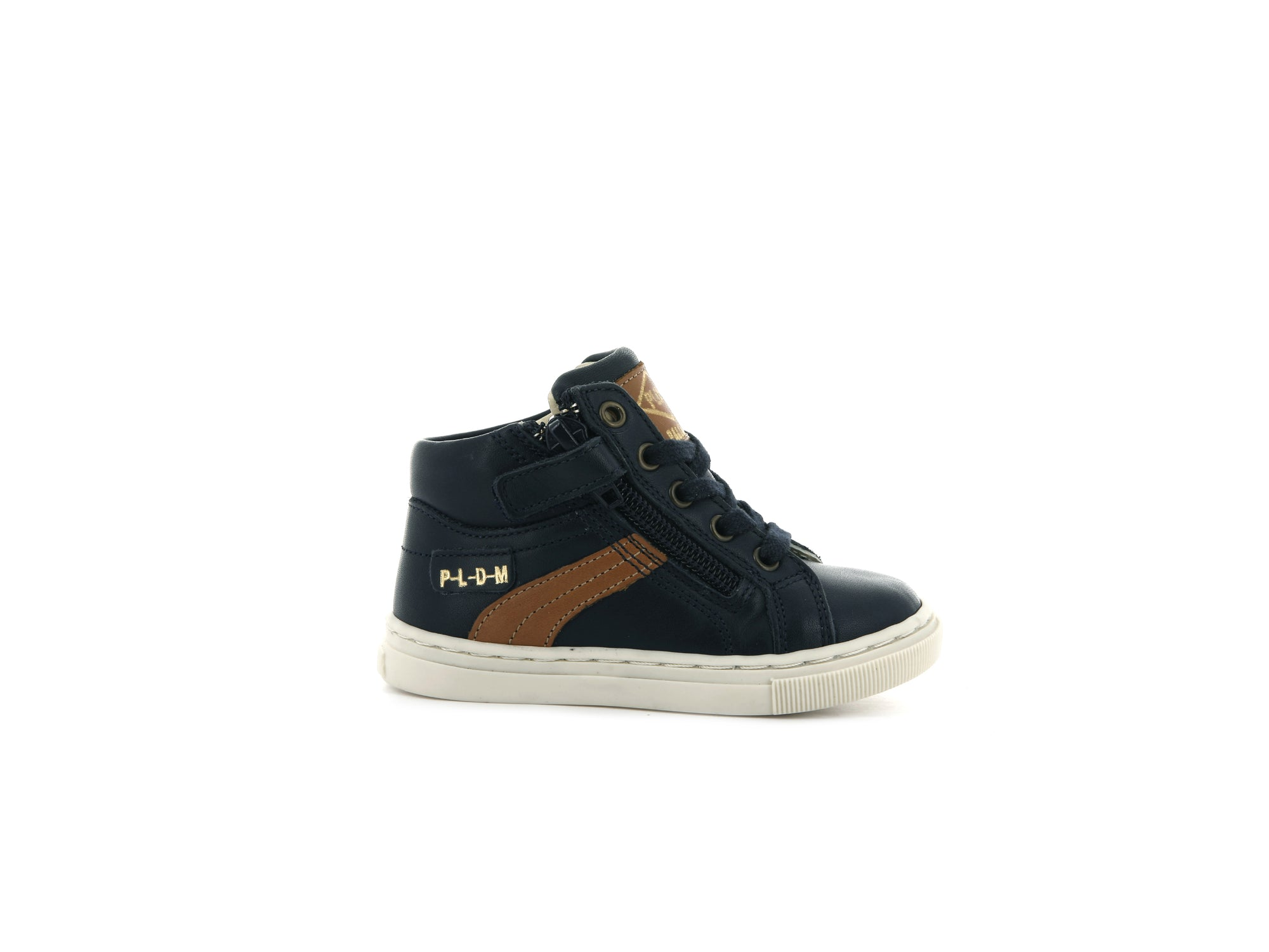 75093_C74 | Baskets Bébé POCO BB | NAVY/COGNAC