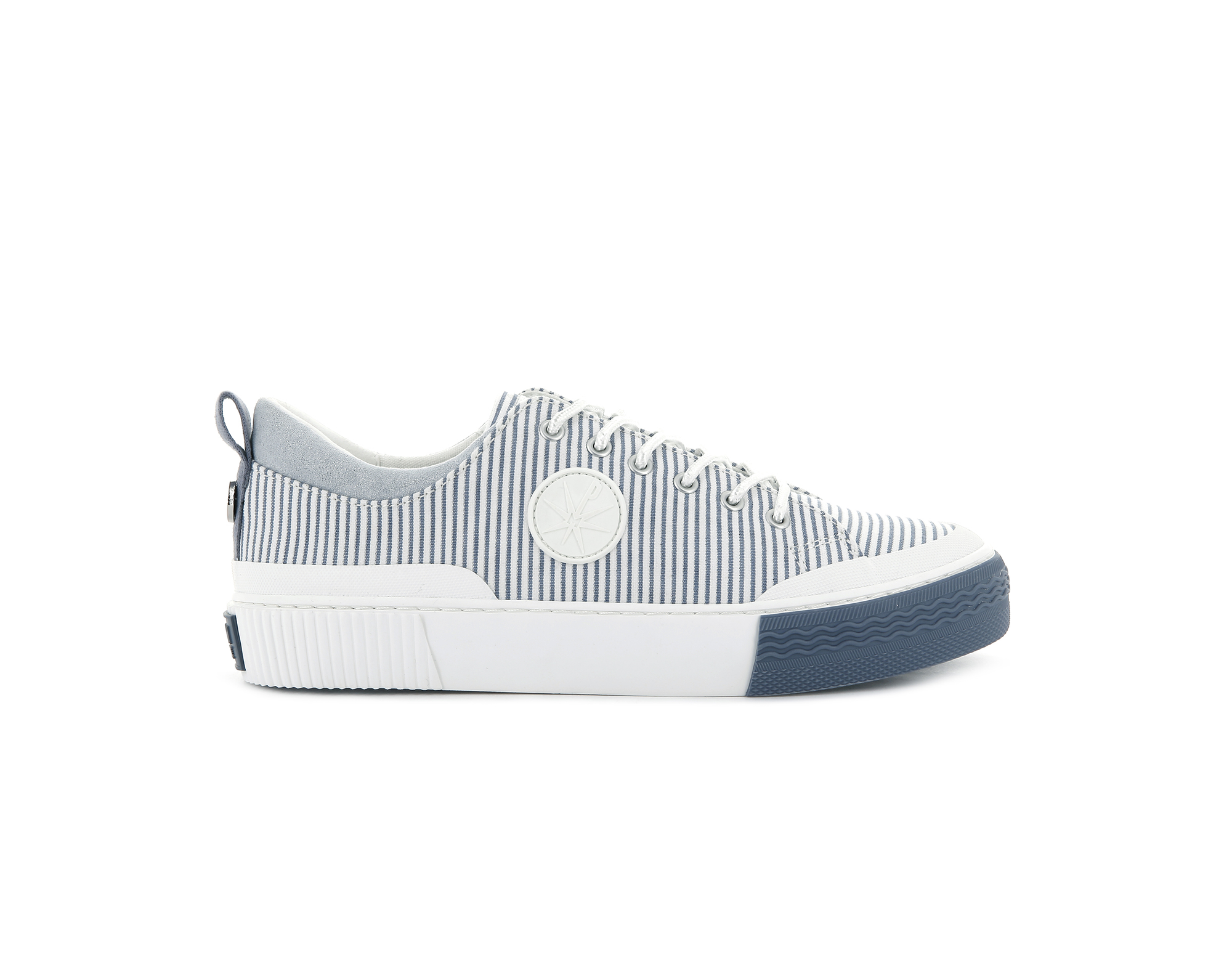 76556_119 | Basket Femme STUDIO 02 TXT | STRIPE BLUE WHITE