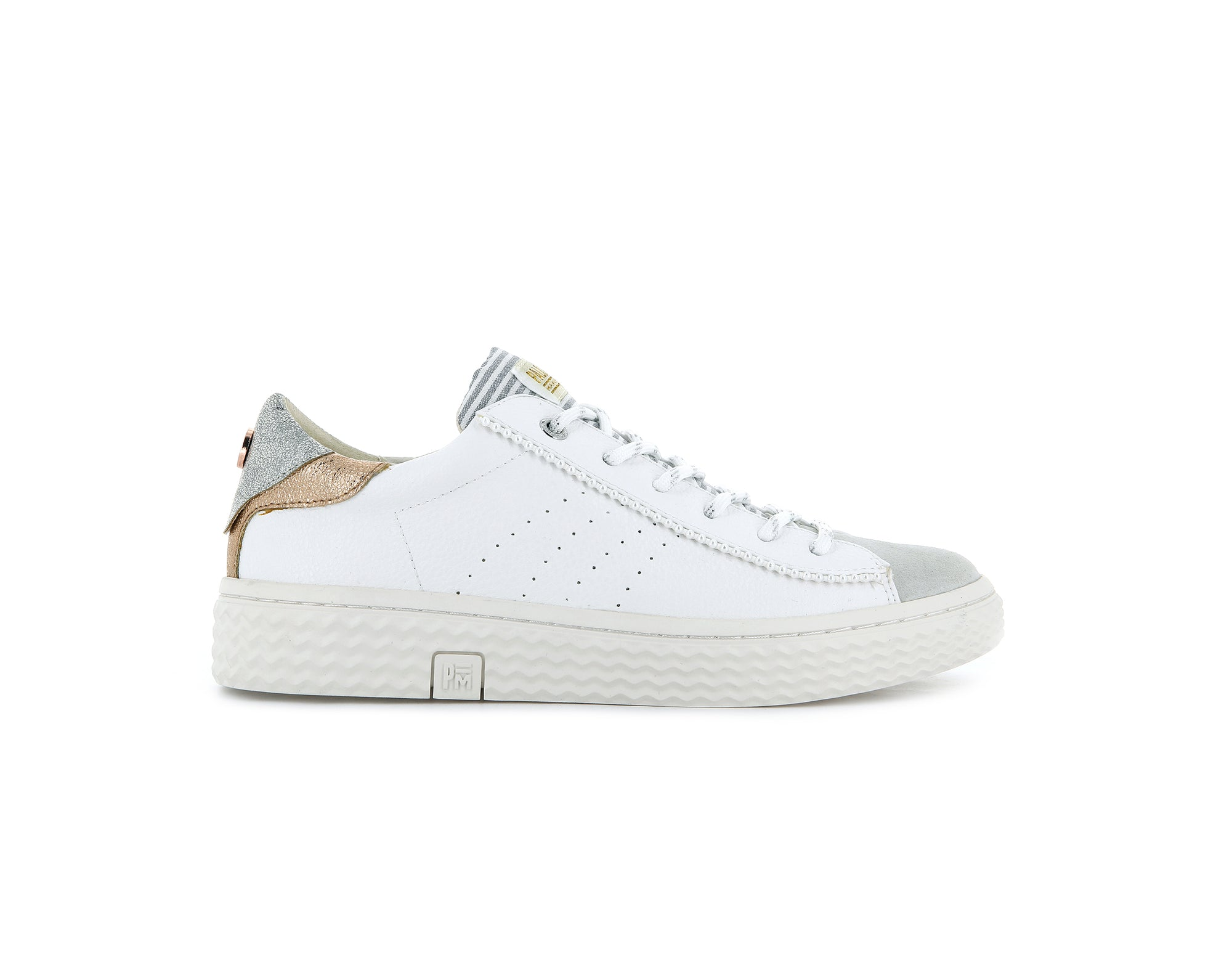 76765_081 | Baskets femme TEMPO 04 | WHITE/SILVER