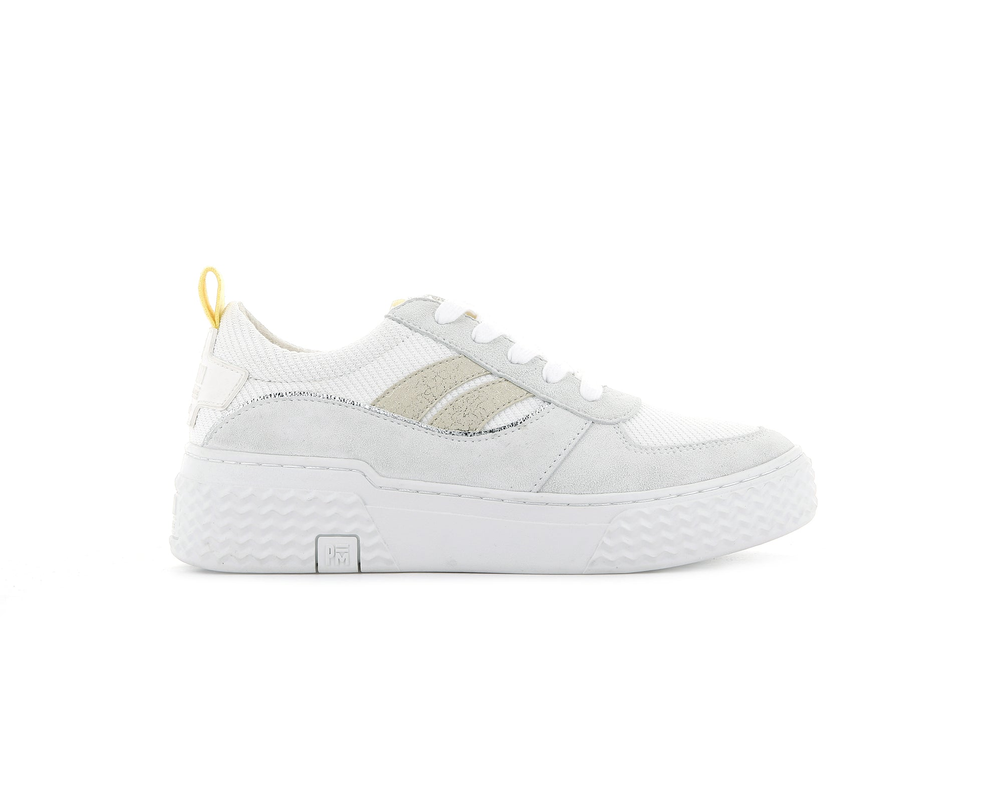 76991_V60 | Baskets femme EGO 01 SOAP | WHITE/YELLOW/BEIGE