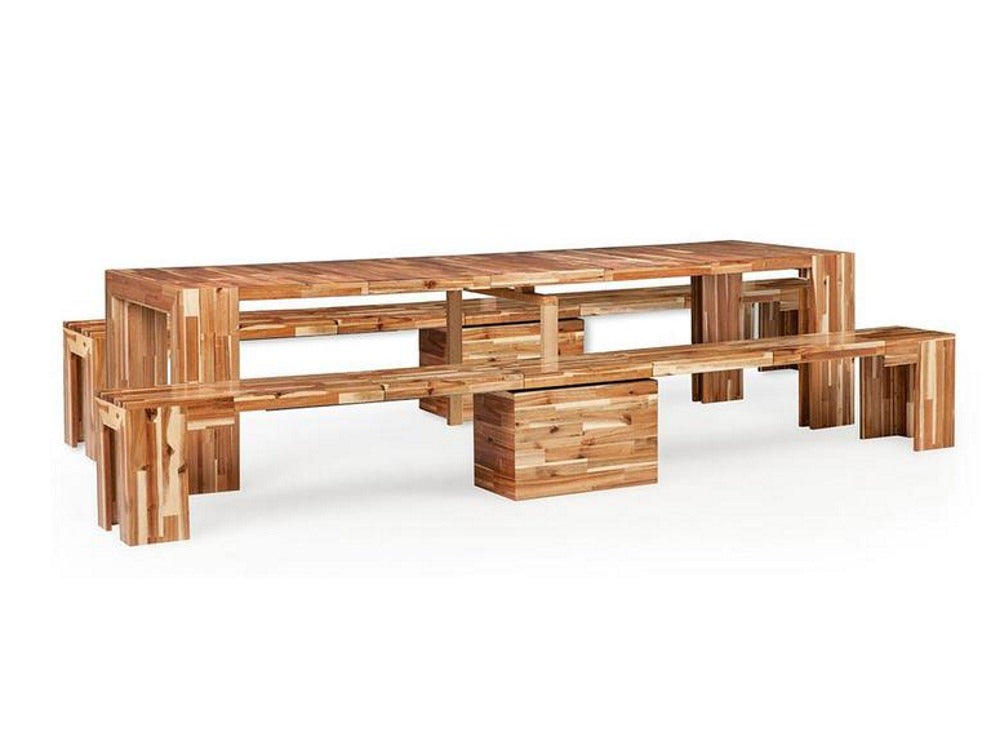 Ultimate Dining Set - Table and two benches
