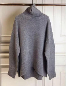 Grey turtleneck
