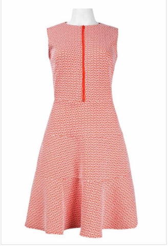 SLEEVELESS SKATER DRESS ORANGE COTTON