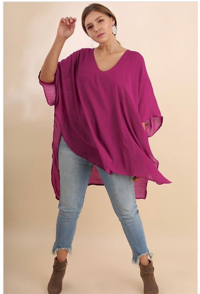 PLUS SHELLEY V-NECK CAFTAN
