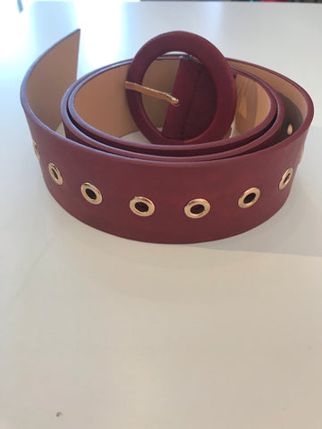 Red (deep red) leather belt