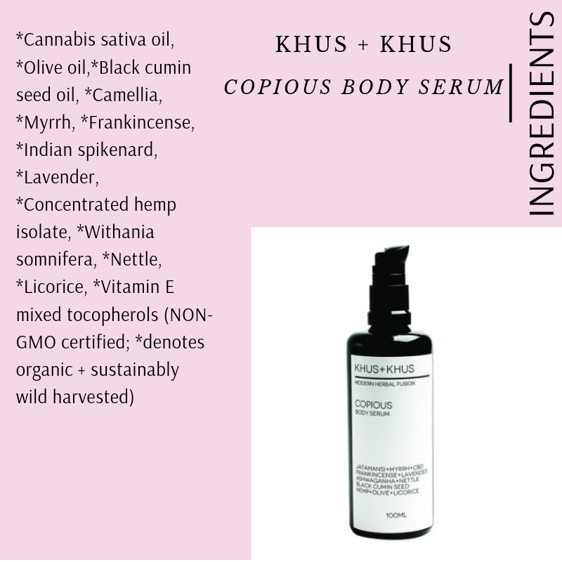 COPIOUS BODY SERUM BY KHUS + KHUS