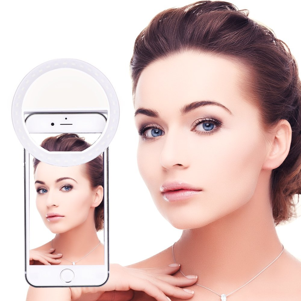 MINI PORTABLE SELFIE LED RING LIGHT FOR SMARTPHONE/TABLET/LAPTOP
