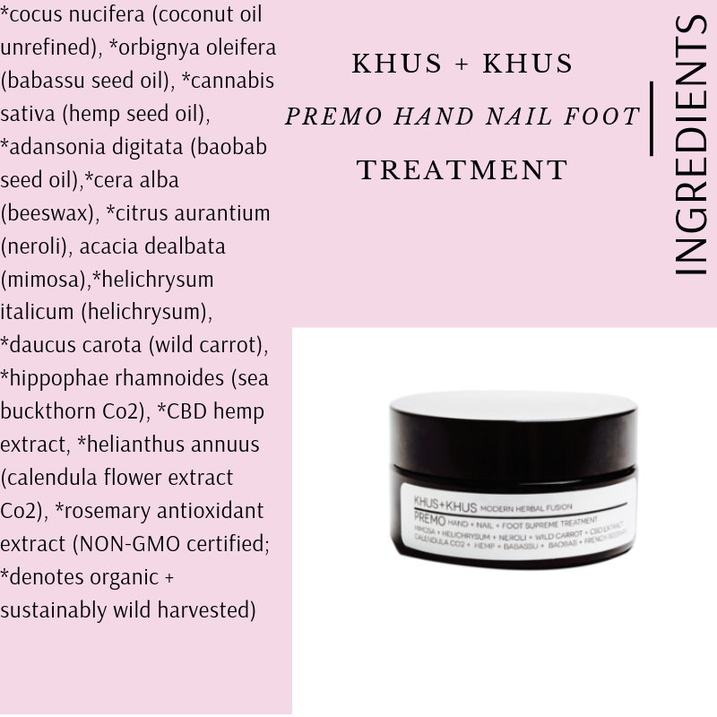 PREMO HAND NAIL FOOT TREATMENT BY KHUS + KHUS
