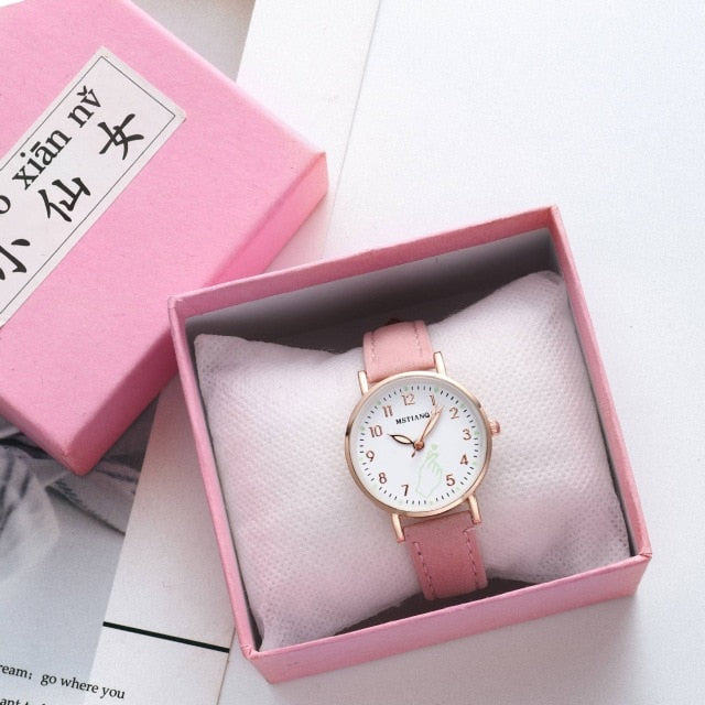 Fashion Simple Ladies Wrist Watches Luminous Women Watches Casual Leather Strap Quartz Watch Clock Montre Femme Relogio Feminino