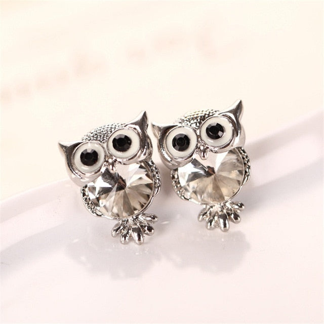 THE WILD LIFE COLLECTION - MULTICOLOR OWL EARRINGS