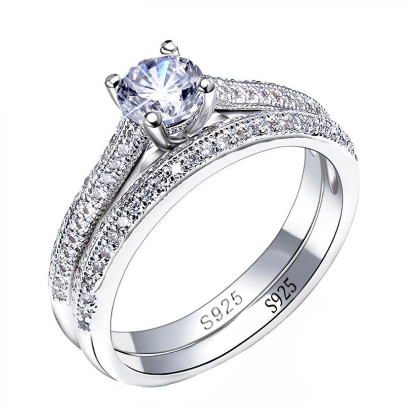 THE SOL COLLECTION - SIRENA STERLING SILVER ENGAGEMENT SET