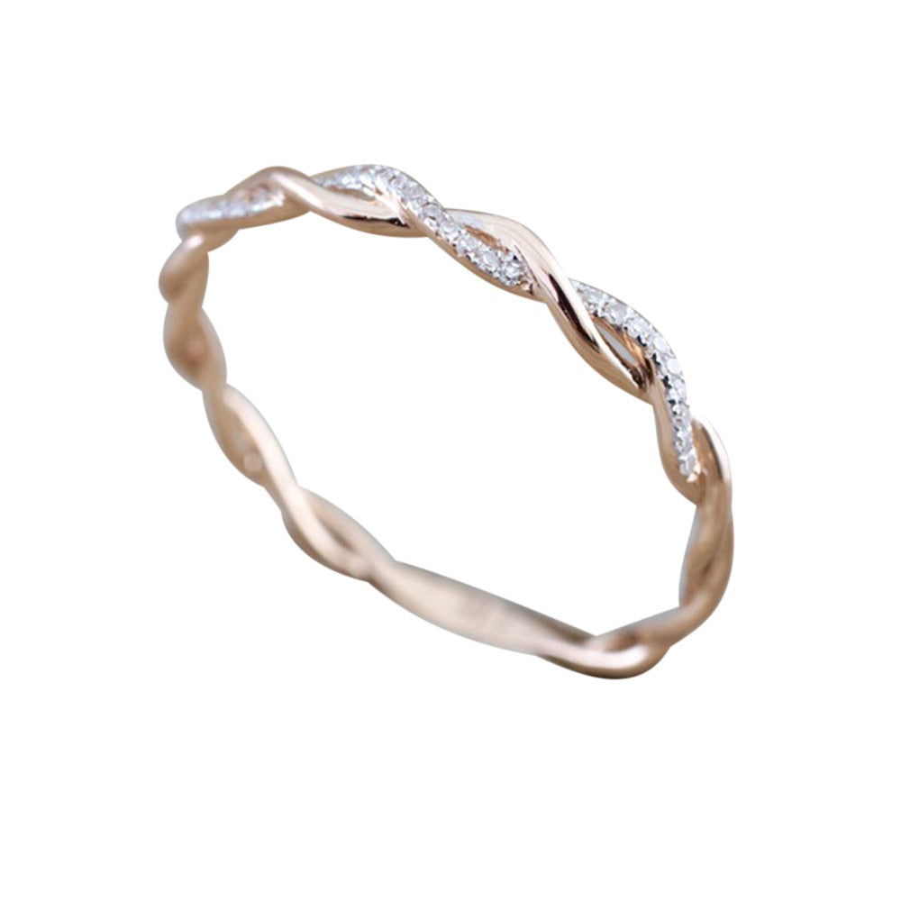THE SOL COLLECTION - INFINITY ROSE GOLD BAND
