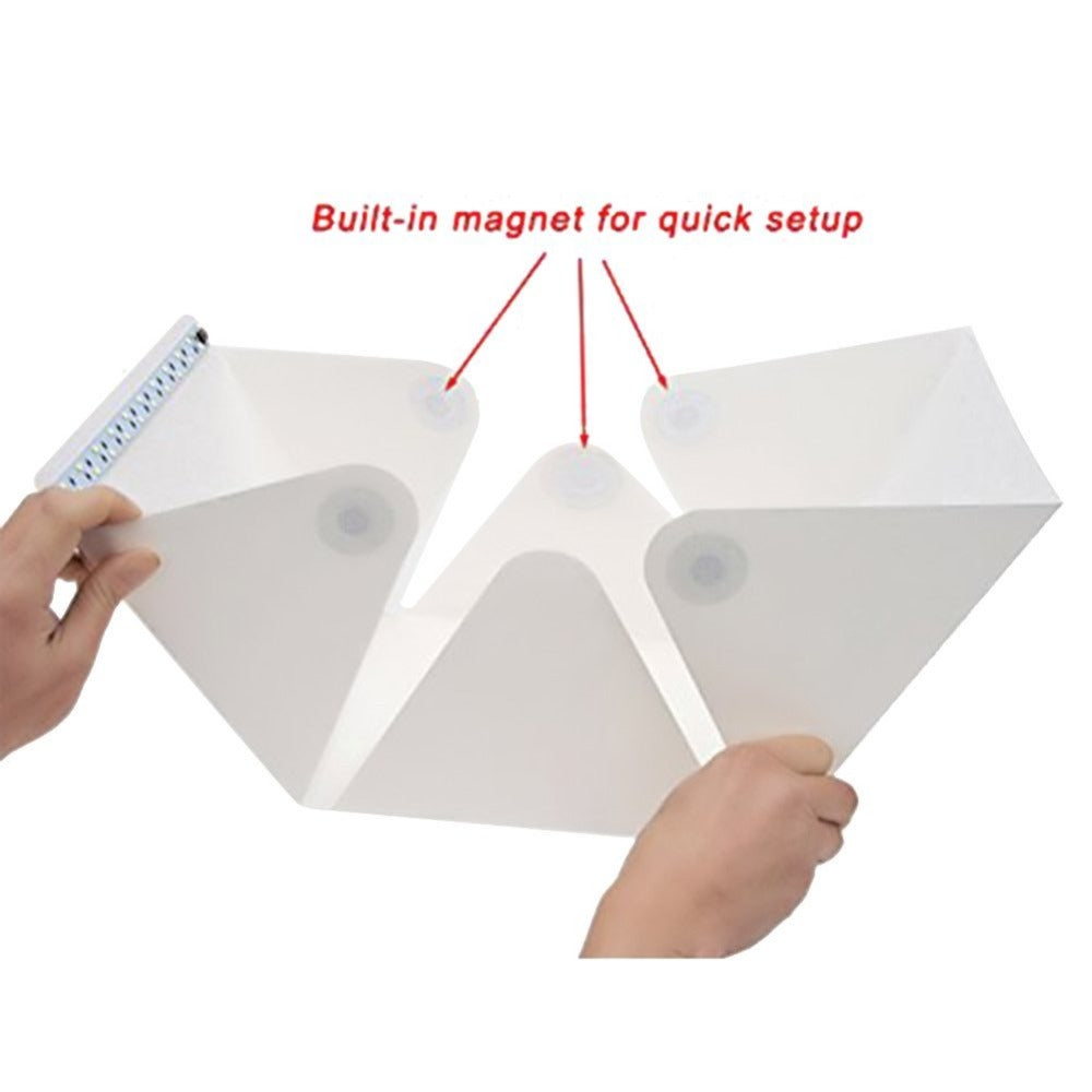 9 INCH PORTABLE FOLDING LED LIGHT SOFTBOX KIT