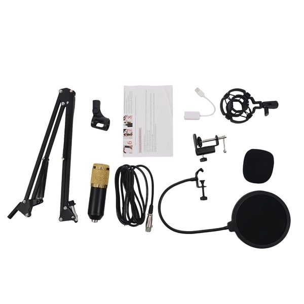 LUXE PROFESSIONAL PODCAST MICROPHONE KIT FOR VOICE RECORDING WITH STAND