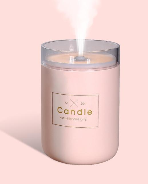 2-IN-1 CANDLE HUMIDIFIER WITH SOFT LIGHT