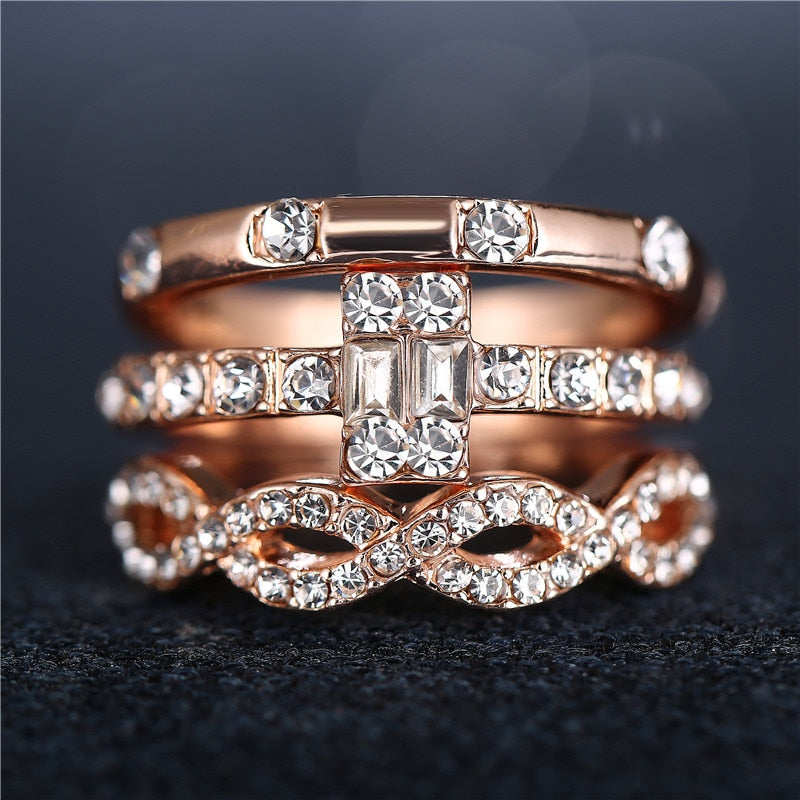THE SOL COLLECTION - ANTIQUE LUXE RING SET