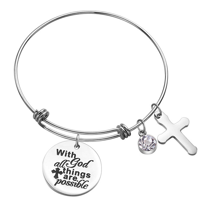 THE WHIMSY COLLECTION - HAVE FAITH STERLING SILVER BRACELET