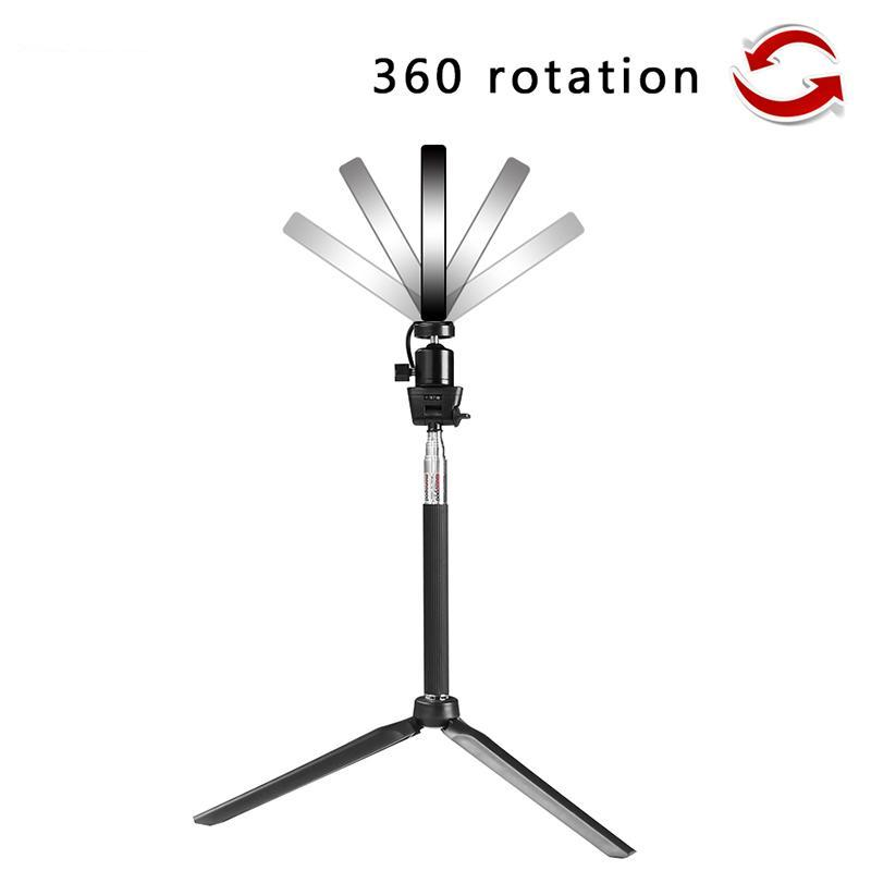 MINI LED RING LIGHT KIT (10in or 6in RING LIGHT, MINI TRIPOD LIGHT STAND, SMARTPHONE MOUNT, REMOTE & SELFIE STICK INCLUDED)