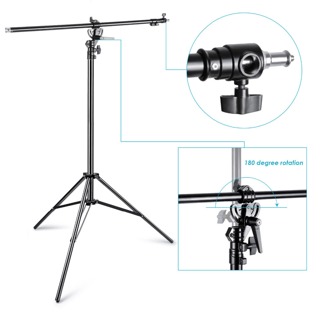 2 WAY BOOM LIGHT STAND WITH SANDBAG FOR PHOTO STUDIO (2IN1)