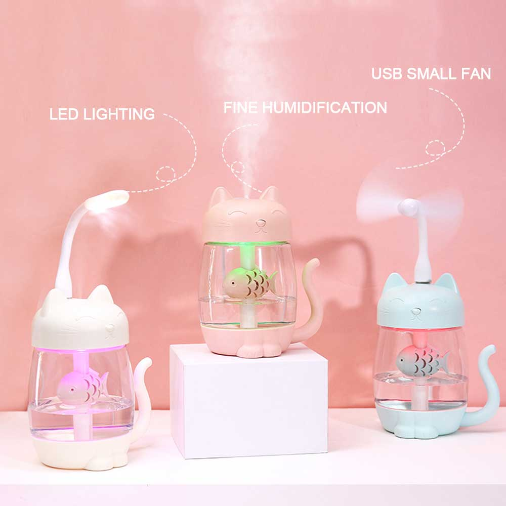 3-IN-1 ULTRASONIC AIR HUMIDIFIER WITH LED LIGHT & COOL-MIST FAN
