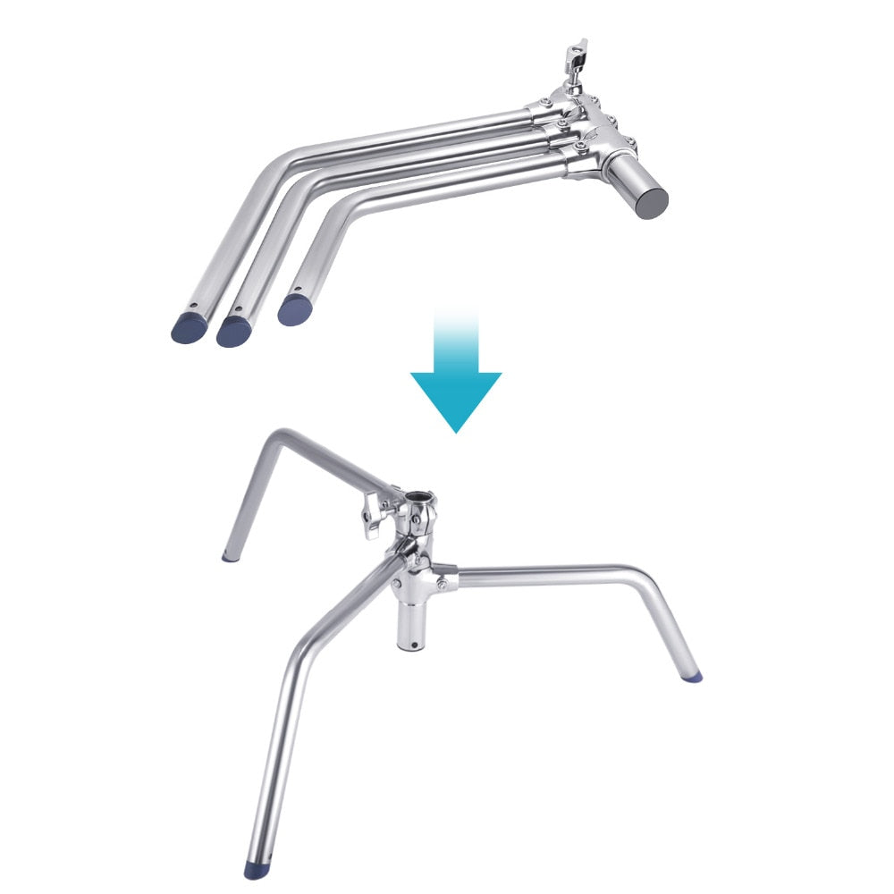 STAINLESS STEEL HEAVY DUTY C-STAND