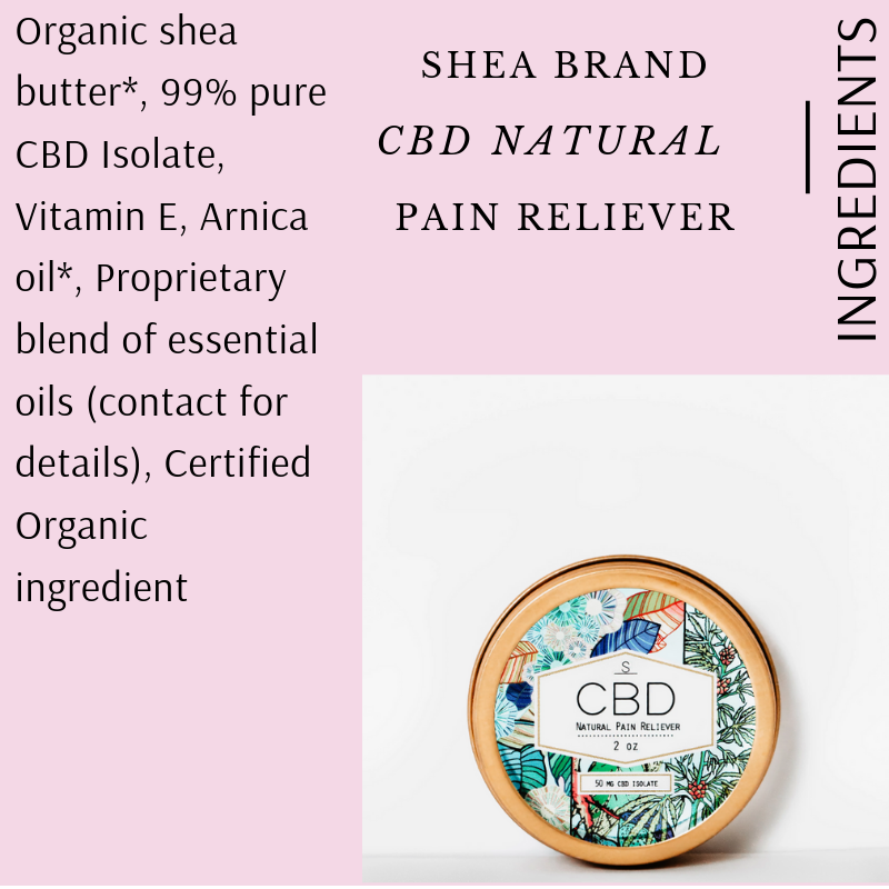 NATURAL PAIN RELIEVER BY SHEA BRAND