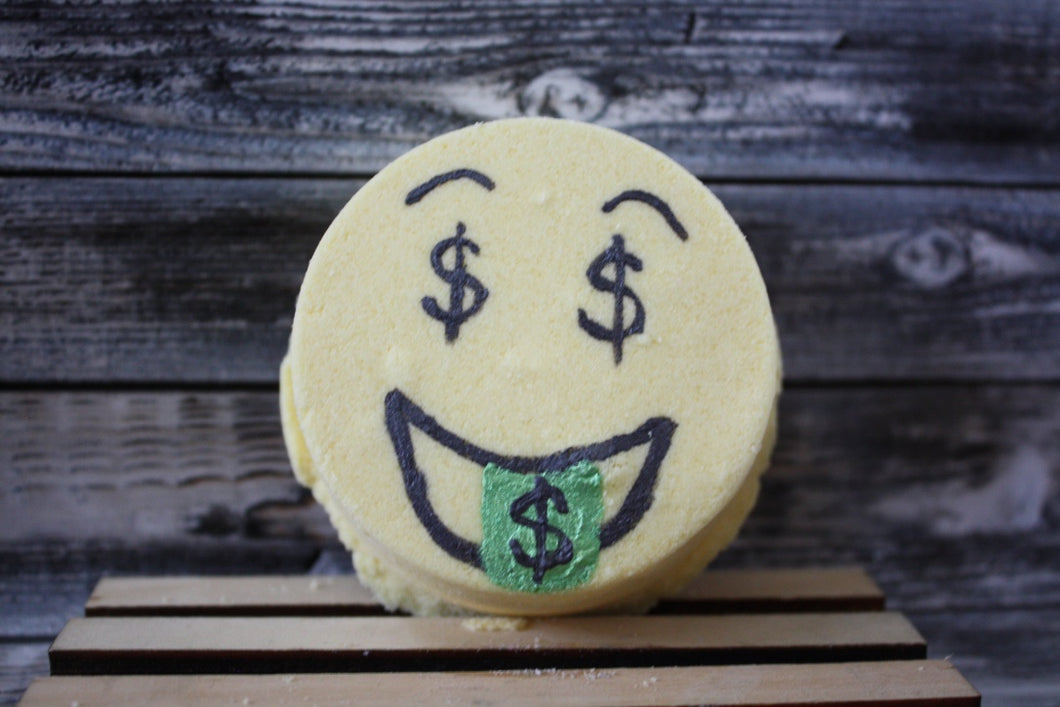 Dollar Sign Emoji Bath Bomb