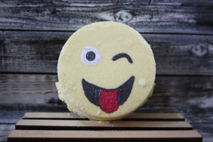 Winking Face with Tongue Emoji Bath Bomb