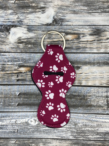 Maroon Paw Print Lip Balm Holders