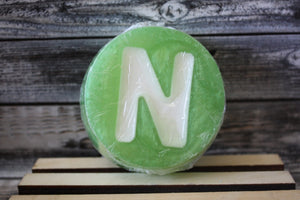 """N"" Green Personalized Soap"