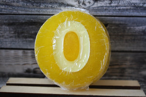 """O"" Yellow Personalized Soap"
