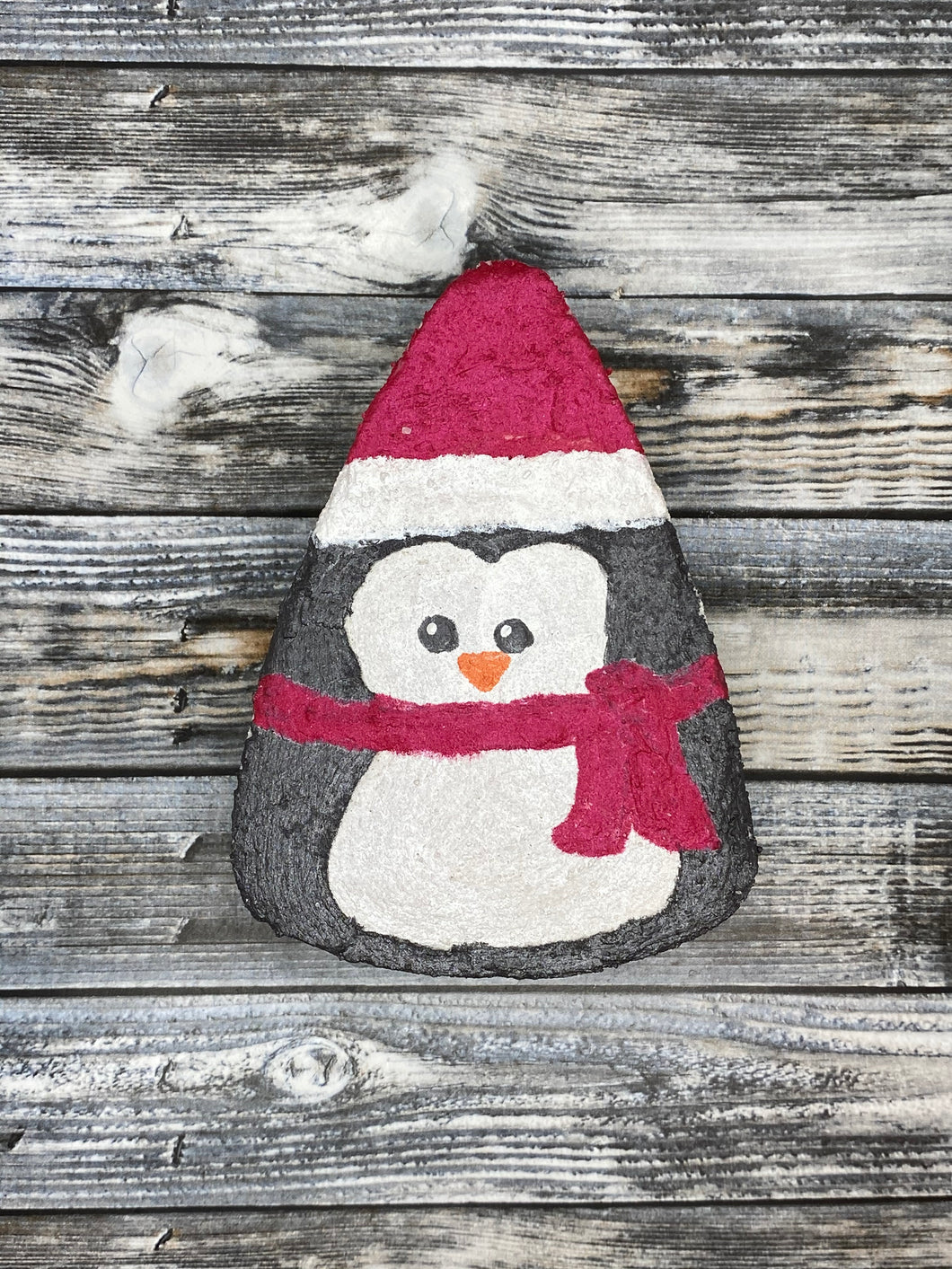 Penguin w/ Red Hat & Scarf