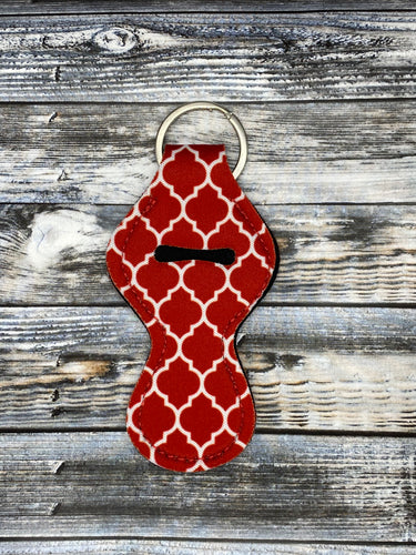 Red Quatrefoil Lip Balm Holders